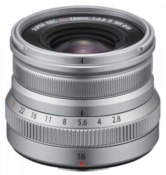 Fujifilm Fujinon XF16mm 2.8 R WR silber