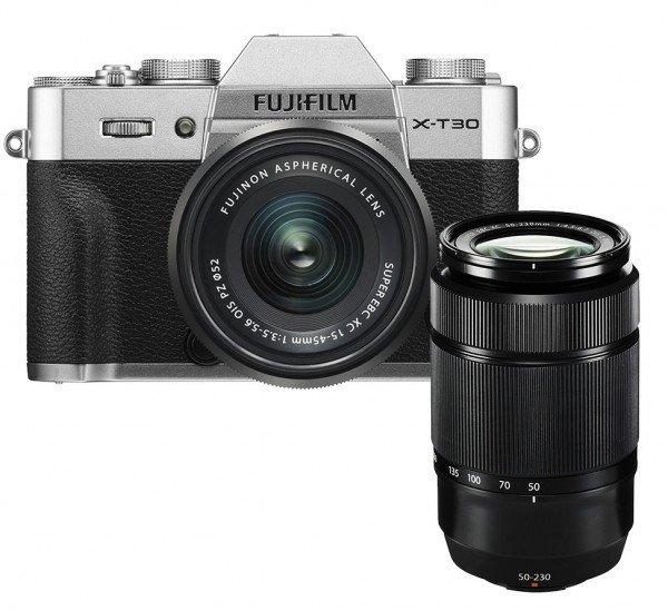 Fujifilm X-T30 silber + XC15-45mm + XC50-230mm II