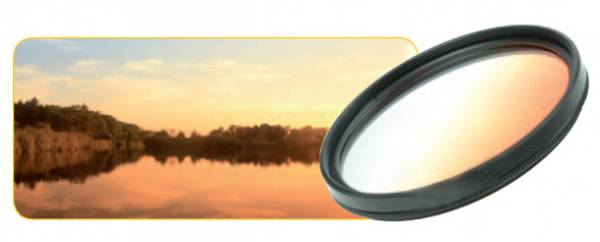 Dörr Farbverlauf Filter orange 55mm