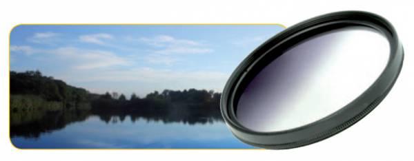 Dörr Farbverlauf Filter grau 77mm