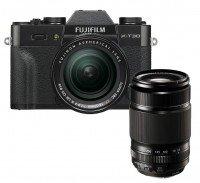 Fujifilm X-T30 schwarz + XF18-55mm + XF55-200mm