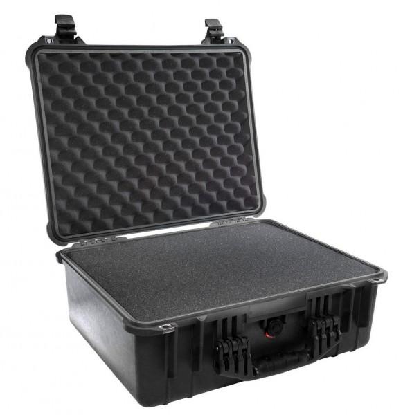 Peli Koffer Modell 1550 mit Würfelschaumstoff - schwarz