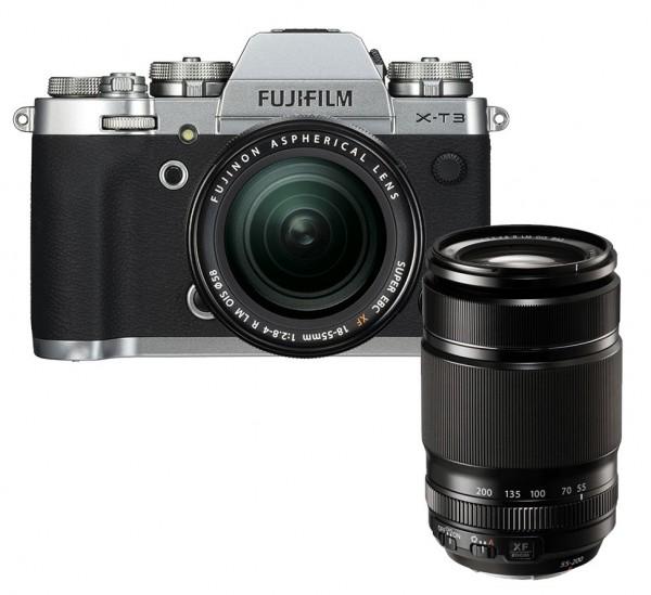 Fujifilm X-T3 silber + XF18-55mm + XF55-200mm