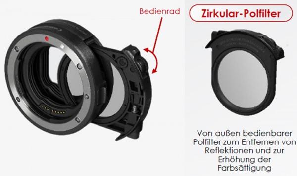 Canon Adapter EF-EOS R mit Polfilter Einsteckfilter (C-PL)