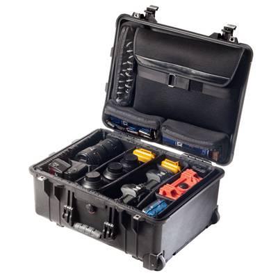 Peli Modell 1560SC mit Trennwandset & Laptop-Deckelorganizer - schwarz