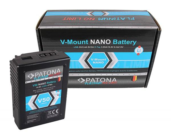 Patona V-Mount Platinum Nano V50 Akku
