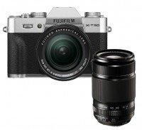 Fujifilm X-T30 silber + XF18-55mm + XF55-200mm