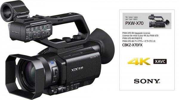 Sony PXW-X70 Camcorder + 4K-Upgrade