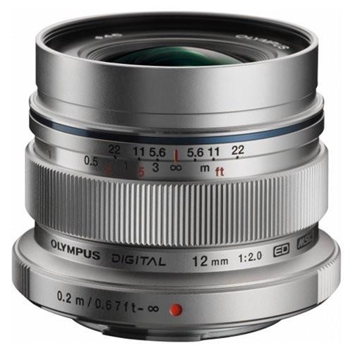 """Olympus M.Zuiko Digital ED 12mm 1:2.0 silber"" V311020SE000"