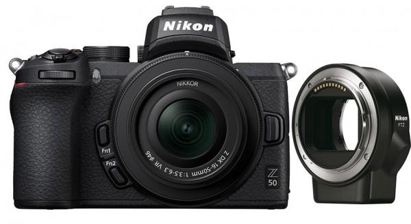 Nikon Z50 + Z DX 16-50mm 3.5-6.3 VR + Adapter