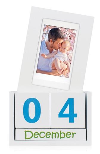 Fujifilm Instax Mini Würfel Kalender aus Holz