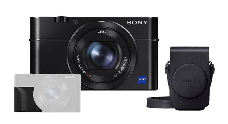 Sony DSC-RX100 III + LCS-RXG Tasche + AG-R2 Griff