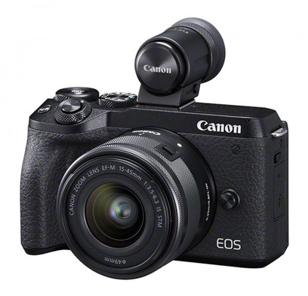 Canon EOS M6 Mark II + EF-M 15-45mm 3.5-6.3 IS STM + EVF-DC2 Sucher