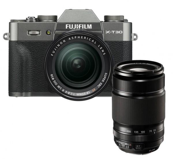 Fujifilm X-T30 anthrazit + XF18-55mm + XF55-200mm