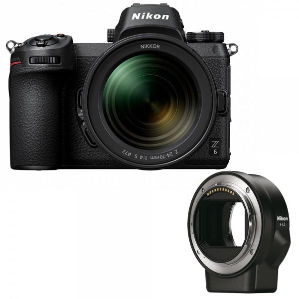 Nikon Z6 + Nikkor Z 24-70mm 4.0 + Adapter