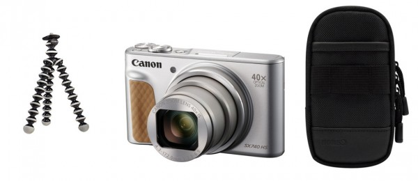 Canon PowerShot SX740 HS silber Travel Kit