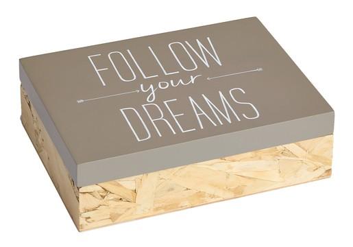 """Fotobox """"Follow your Dreams"""" aus Holz"""