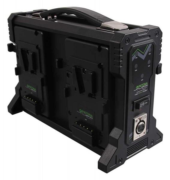 Patona Premium V-Mount 4-fach Ladegerät für Sony