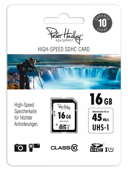 Peter Hadley SDHC-Karte 16GB 12/45MB/s