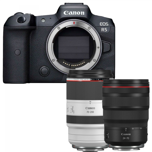 Canon EOS R5 + RF 24-70mm 2.8 L IS USM + RF 70-200mm 2.8 L IS USM