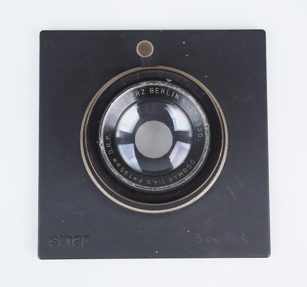 C.P. Goerz Berlin Dogmar 195mm 195 mm 4.5 D.R.P auf SINAR-Platte
