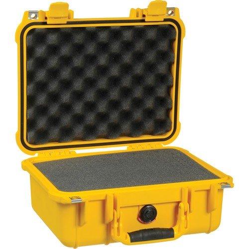 Peli Modell 1400 mit Würfelschaumstoff - gelb