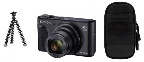 Canon PowerShot SX740 HS schwarz Travel Kit
