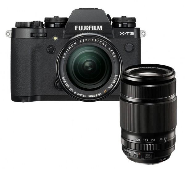Fujifilm X-T3 schwarz + XF18-55mm + XF55-200mm