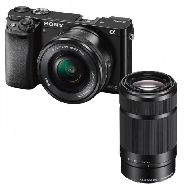 Sony Alpha 6000 schwarz + 16-50mm 3.5-5.6 OSS + 55-210mm 4.5-6.3 OSS