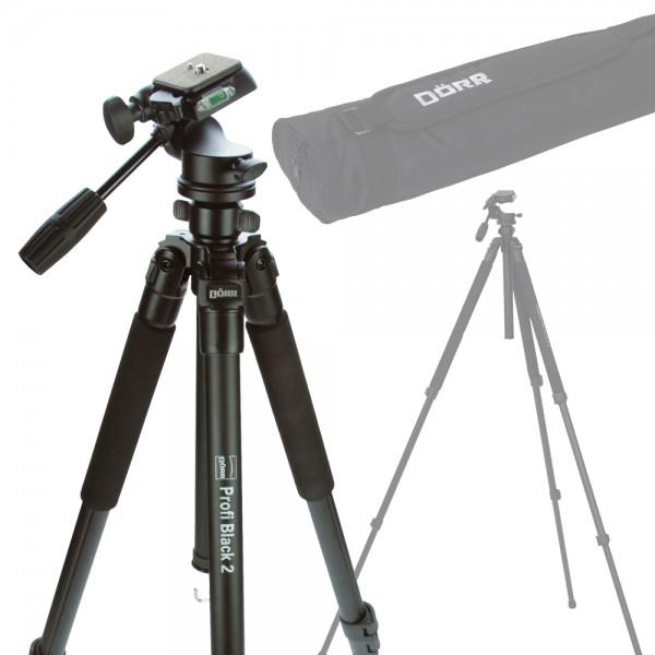 Dörr Pro Black II Stativ mit 3D Kopf inkl. Tasche