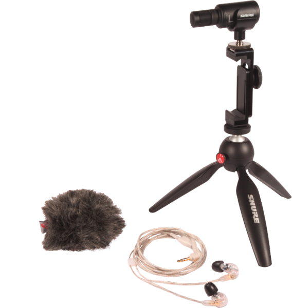Shure MV88+SE215-CL-EFS Portable Video Rig